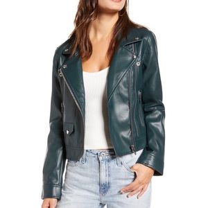 NWT   Blank NYC Faux Leather Overachiever Jacket